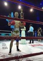 弟子冯新磊在 比赛中获胜